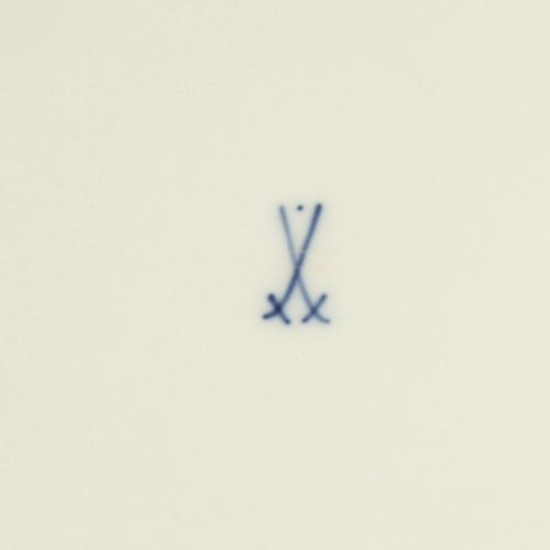 Meissener Wappen Schwerter mit Punkt oben